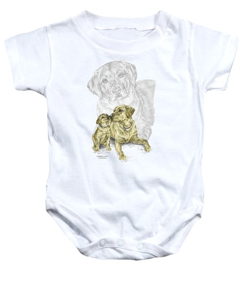 A Mothers Love - Labrador Dog Print Color Tinted Baby Onesie