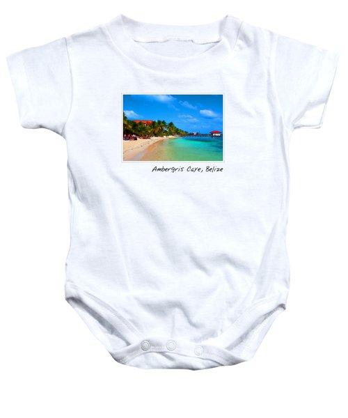 Ambergris Caye Belize Baby Onesie