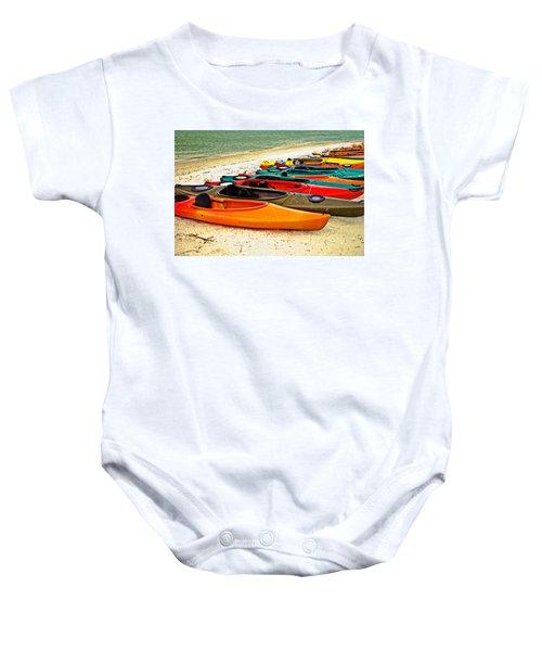 Beach Kayaks Baby Onesie