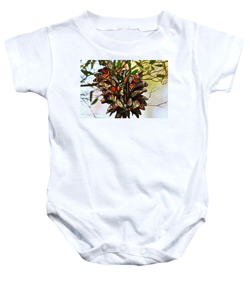 Butterfly Bouquet Baby Onesie