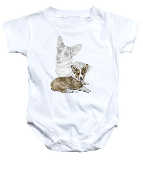 Corgi Dog Art Print Color Tinted Baby Onesie