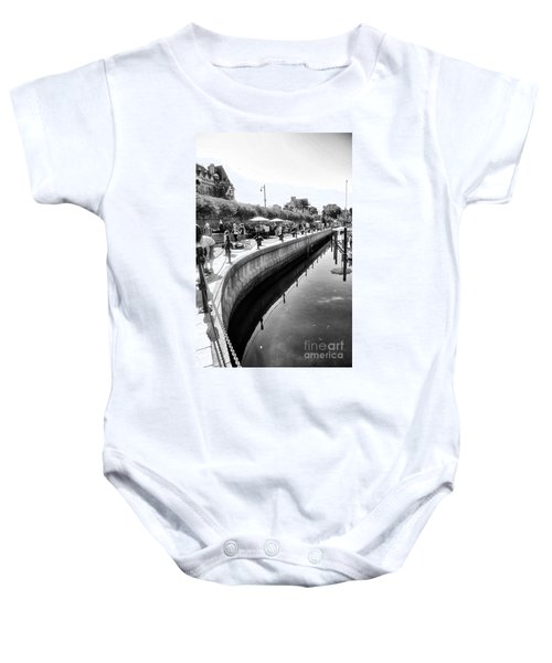 Hanging At The Harbor Baby Onesie