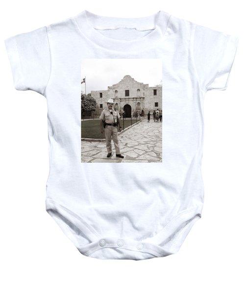 He Guards The Alamo Baby Onesie