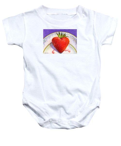 I Love You Berry Much Baby Onesie
