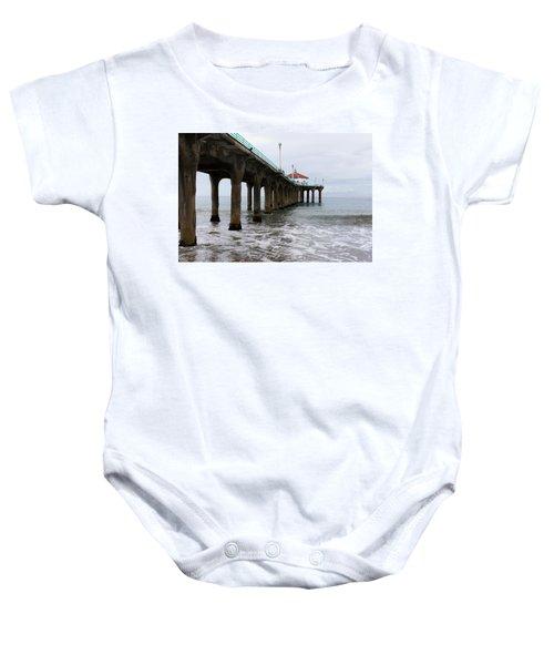 Manhattan Beach Pier Baby Onesie