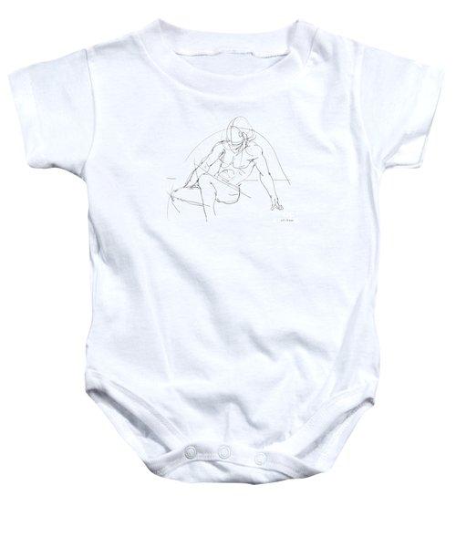 Nude-male-drawings-13 Baby Onesie