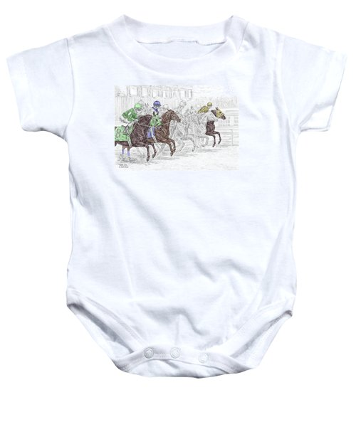 Odds Are - Tb Horse Racing Print Color Tinted Baby Onesie