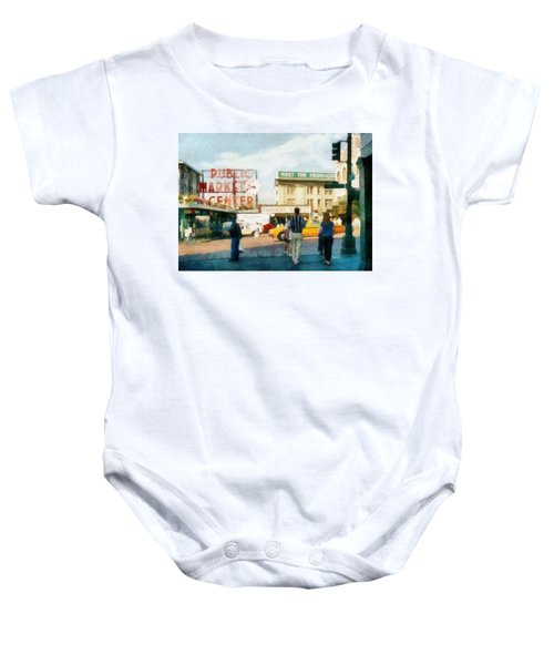 Pike Place Market Baby Onesie