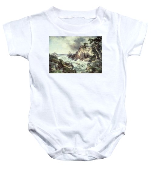Point Lobos At Monterey In California Baby Onesie by Thomas Moran