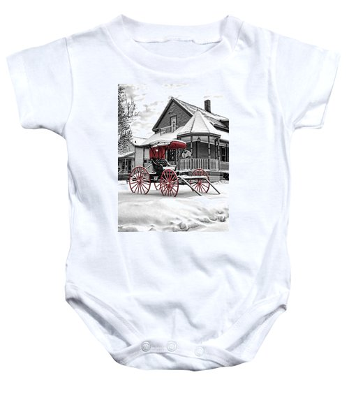 Red Buggy At Olmsted Falls - 2 Baby Onesie