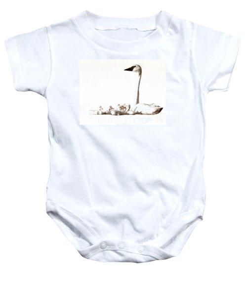Trumpeter Swans Baby Onesie