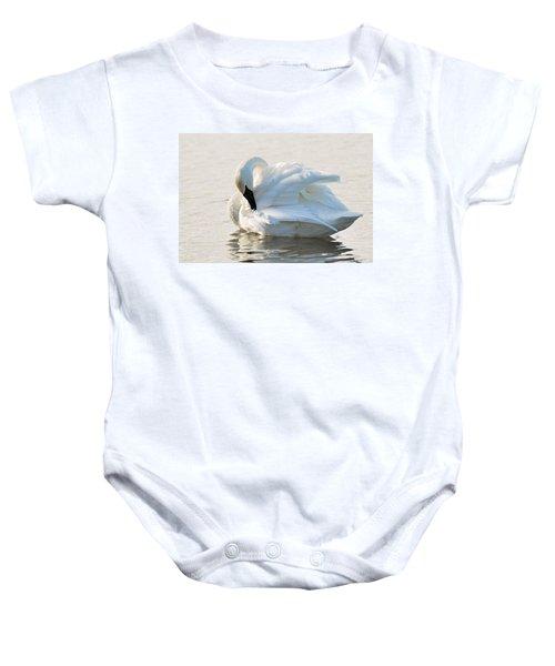 Tumpeter Swan Baby Onesie