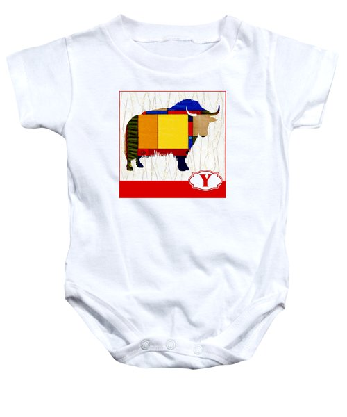 Y Is For Yak Baby Onesie by Elaine Plesser