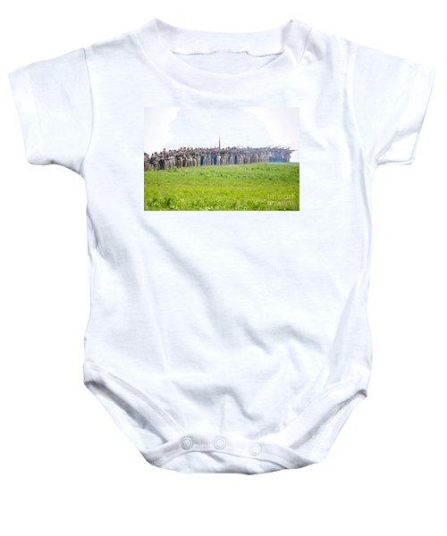 Gettysburg Confederate Infantry 0157c Baby Onesie
