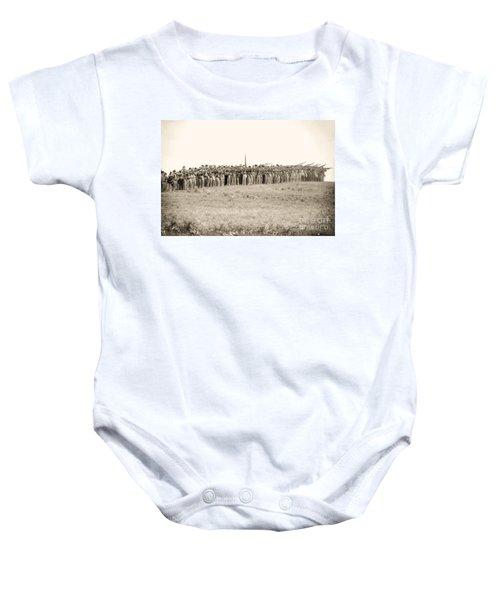 Gettysburg Confederate Infantry 0157s Baby Onesie