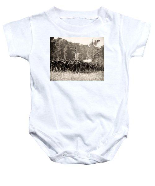 Gettysburg Union Infantry 9372s Baby Onesie