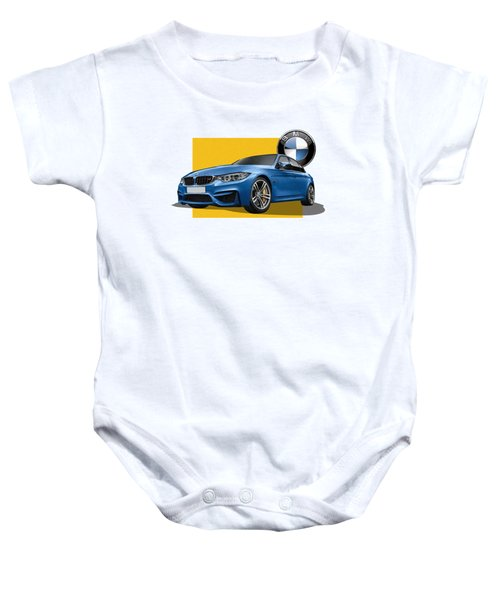 2016  B M W  M 3  Sedan With 3 D Badge  Baby Onesie