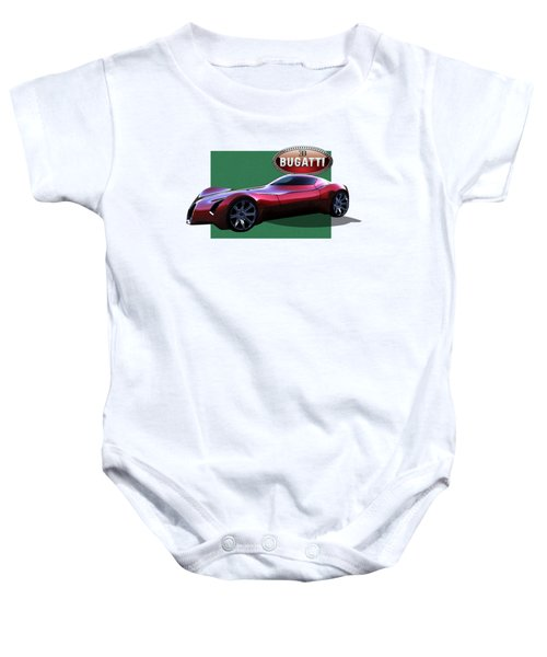 2025 Bugatti Aerolithe Concept With 3 D Badge  Baby Onesie by Serge Averbukh