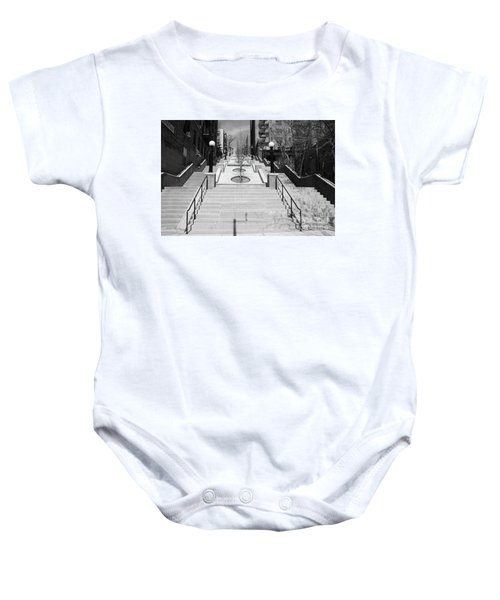 215th Street Stairs Baby Onesie