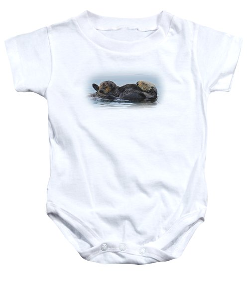 A Mama Sea Otter And Her Babe Baby Onesie