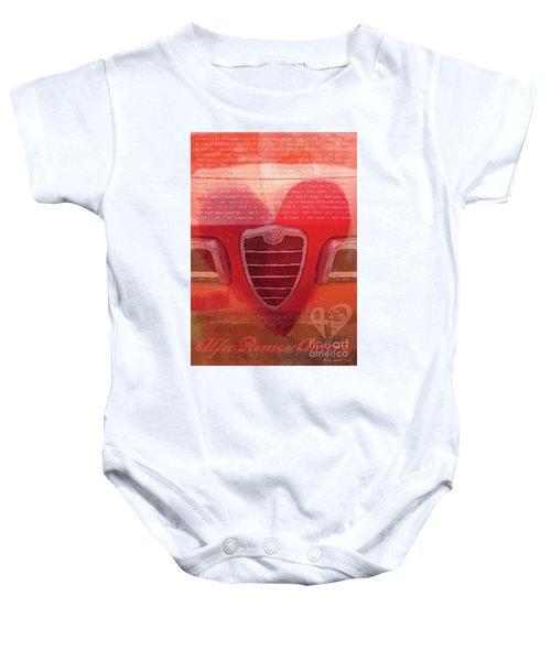 Alfa Romeo Valentine Baby Onesie