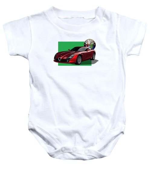 Alfa Romeo Zagato  T Z 3  Stradale With 3 D Badge  Baby Onesie by Serge Averbukh