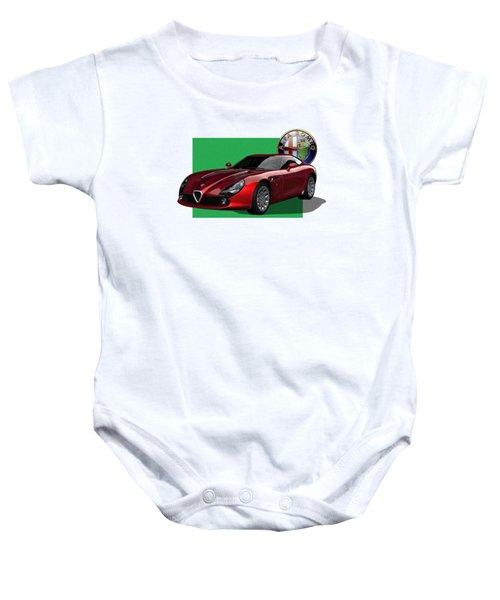 Alfa Romeo Zagato  T Z 3  Stradale With 3 D Badge  Baby Onesie