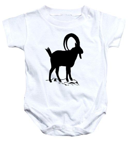 Alpine Ibex Baby Onesie by Mordax Furittus