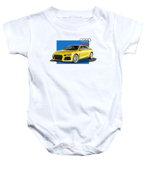 Audi Sport Quattro Concept With 3 D Badge  Baby Onesie by Serge Averbukh