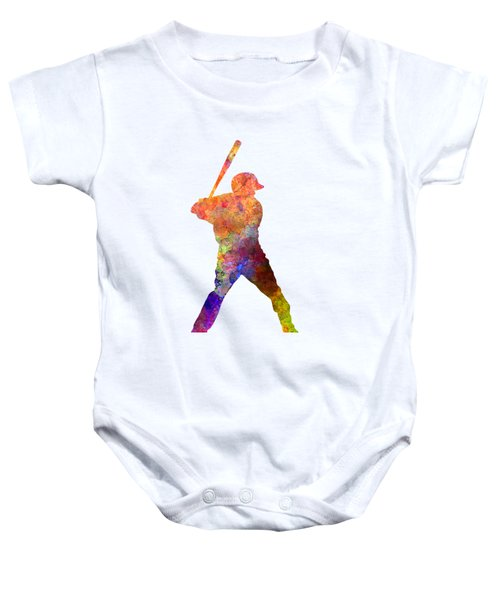 Baseball Player Waiting For A Ball Baby Onesie