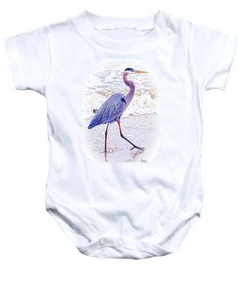 Beach Walker Baby Onesie