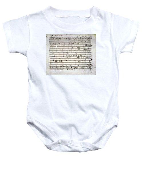 Beethoven Manuscript Baby Onesie