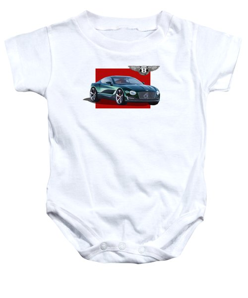 Bentley E X P  10 Speed 6 With  3 D  Badge  Baby Onesie