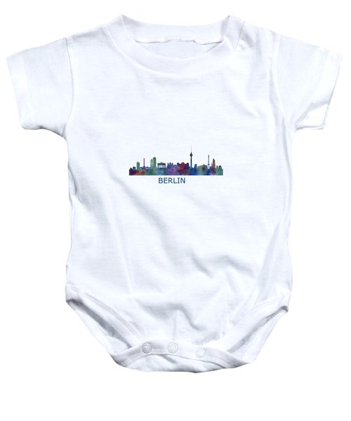 Berlin City Skyline Hq 1 Baby Onesie