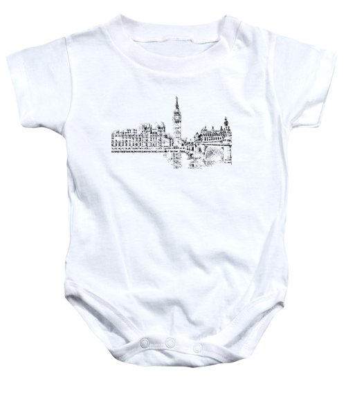 Big Ben Baby Onesie by ISAW Gallery
