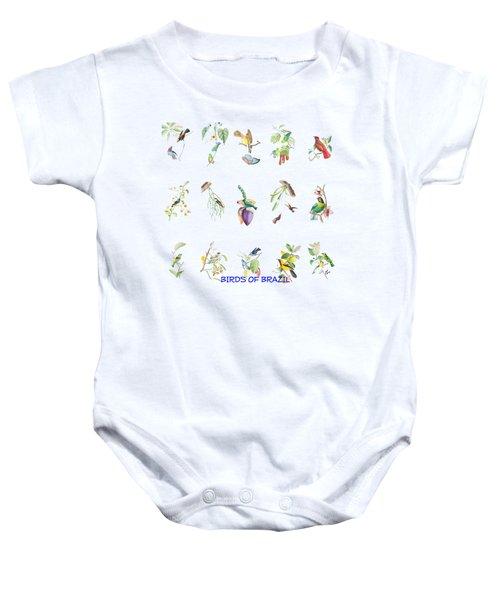 Birds Of Brazil Baby Onesie