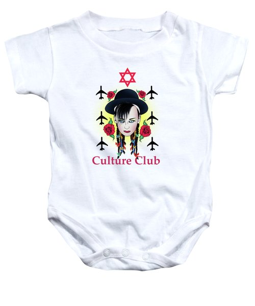 Boy George Baby Onesie by Mark Ashkenazi