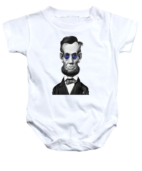 Celebrity Sunday - Abraham Lincoln Baby Onesie by Rob Snow