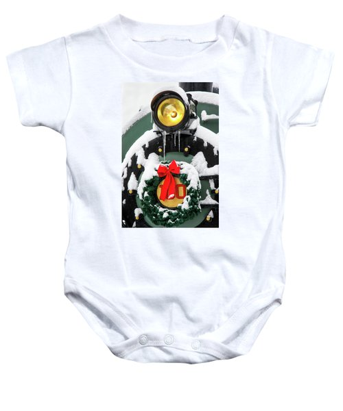 Christmas Train At Pacific Junction Baby Onesie