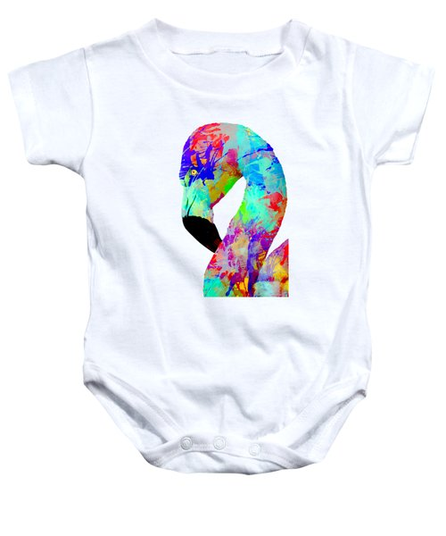 Colorful Flamingo Baby Onesie