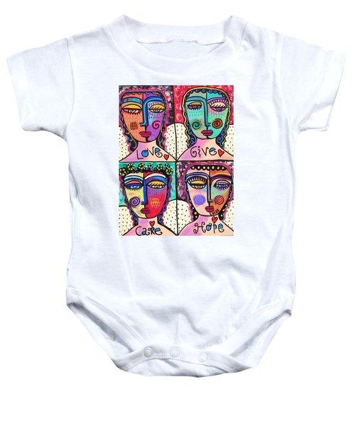 Four Gemstone Angels  Baby Onesie