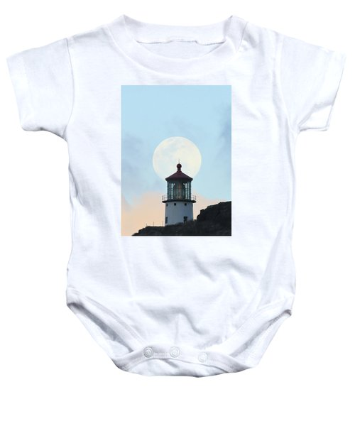 Full Moon Over Makapu'u Light Baby Onesie