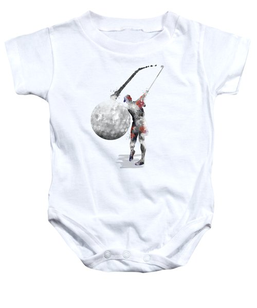 Golf Player Baby Onesie by Marlene Watson