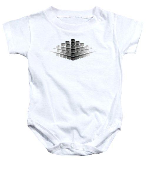 Gradient Pyramid Baby Onesie