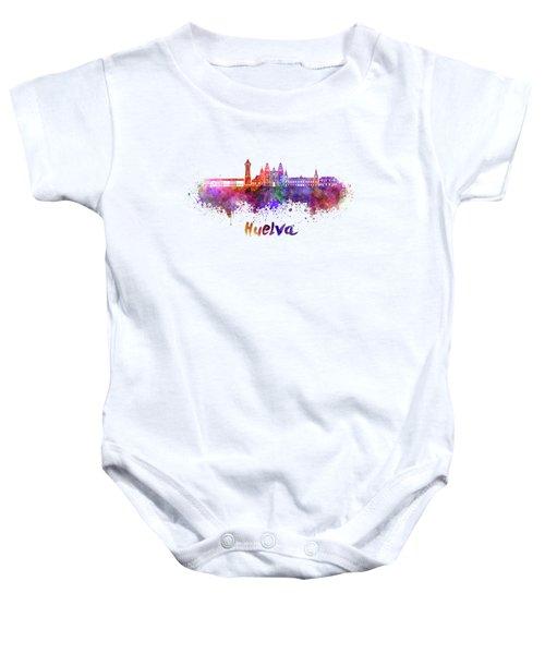 Hamilton Skyline In Watercolor Baby Onesie