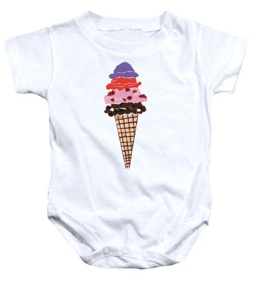 Ice Cream Baby Onesie by Kathleen Sartoris