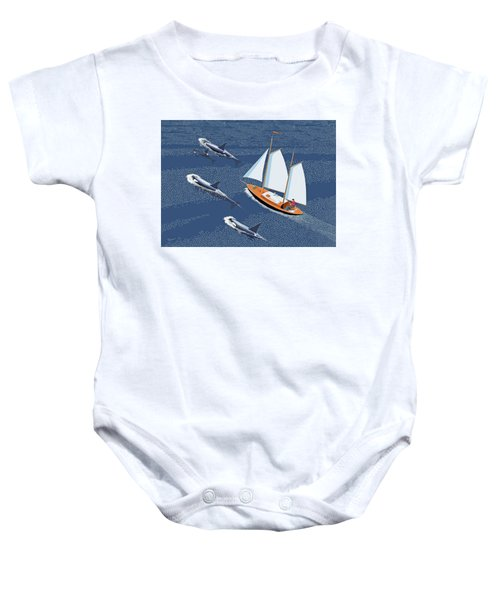 In The Company Of Whales Baby Onesie