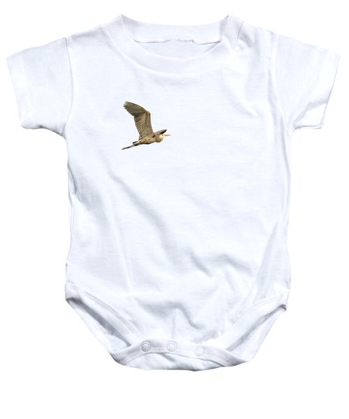 Isolated Great Blue Heron 2015-5 Baby Onesie