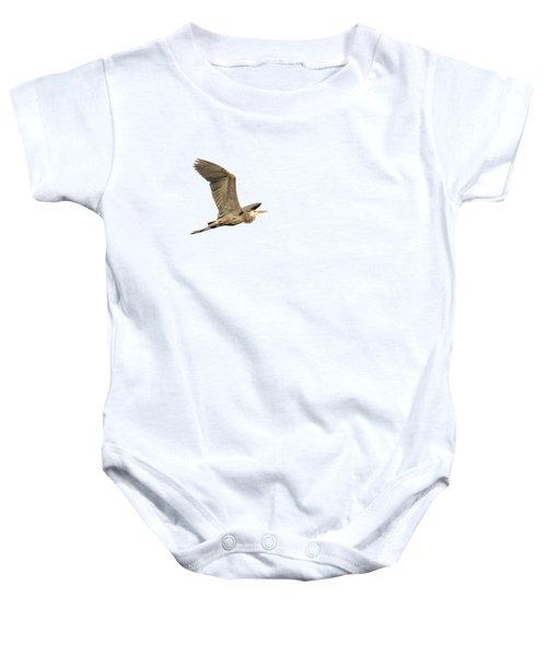 Isolated Great Blue Heron 2015-5 Baby Onesie