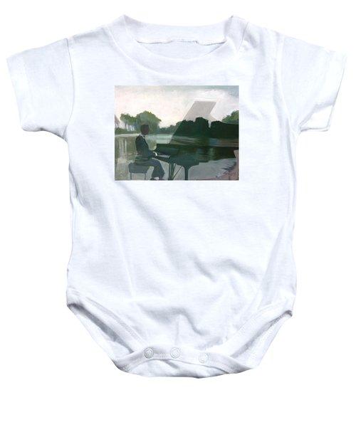 Justin Levitt Steinway Piano Spreckles Lake Baby Onesie